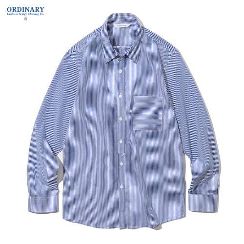 19ss pin stripe pocket shirts blue