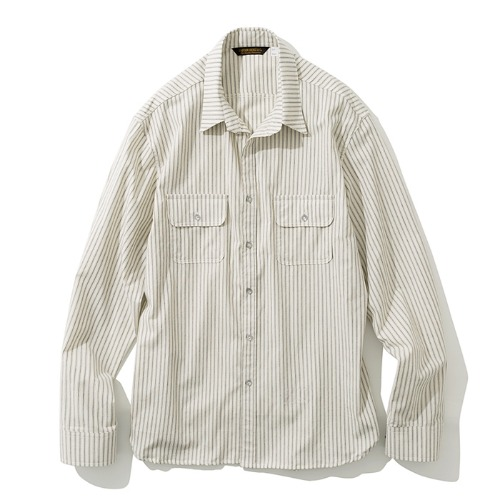 19fw stripe pocket shirts beige
