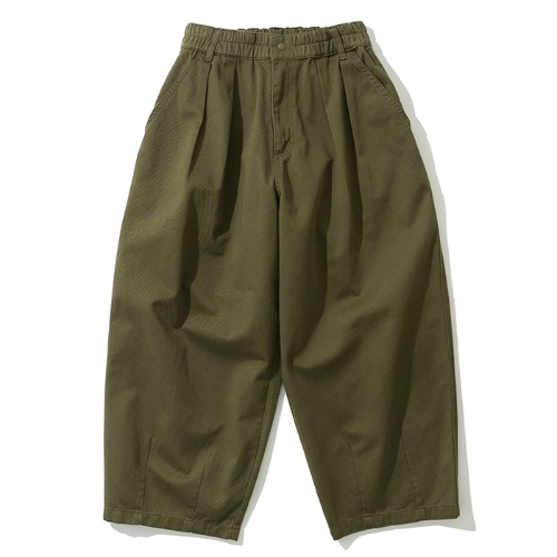19fw balloon crop chino pants khaki