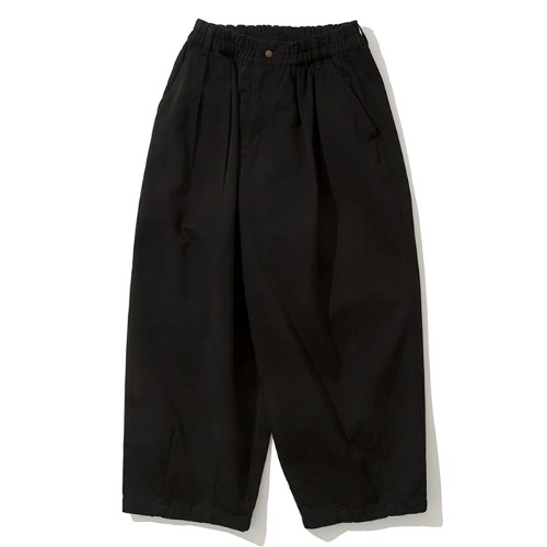 19fw balloon crop chino pants black
