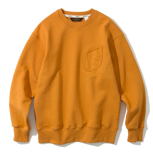 watch pocket sweatshirts yellow orange