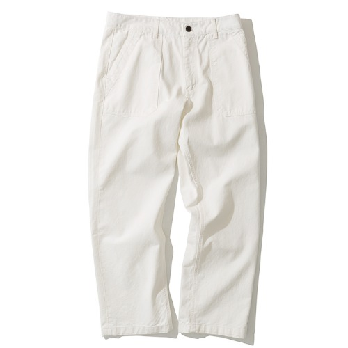 cotton fatigue pants off white