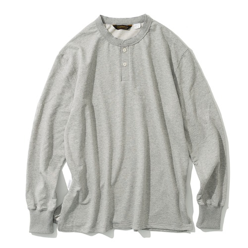 henly neck L/S tee grey