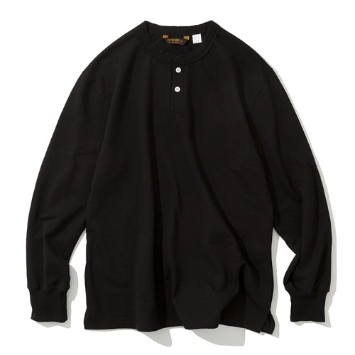 henly neck L/S tee black