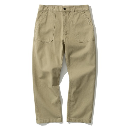 cotton fatigue pants beige
