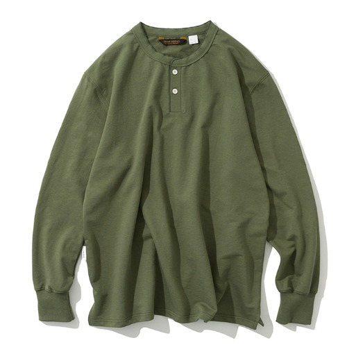 henly neck L/S tee sage green