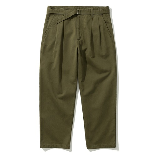 19fw crop chino pants khaki