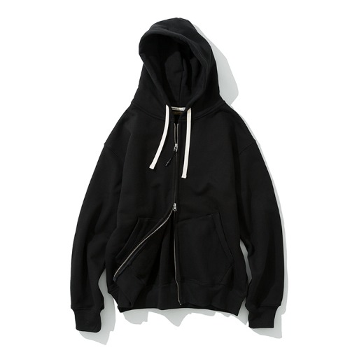 zip up hoodie black