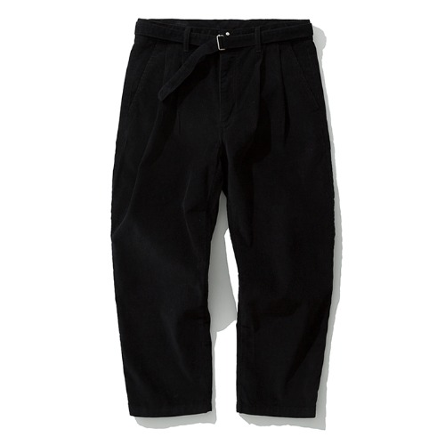 19fw crop corduroy pants black