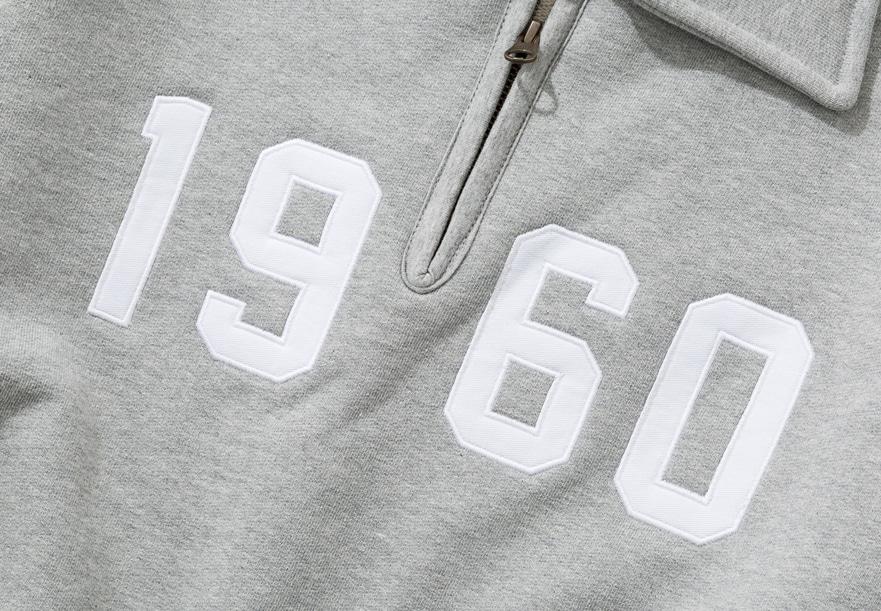 19fw 1960 half zip up