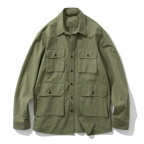 19fw 4pocket shirts jacket sage green