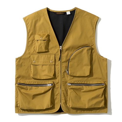 19fw multi pocket vest yellow