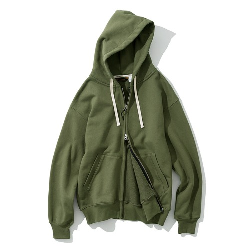 zip up hoodie sage green