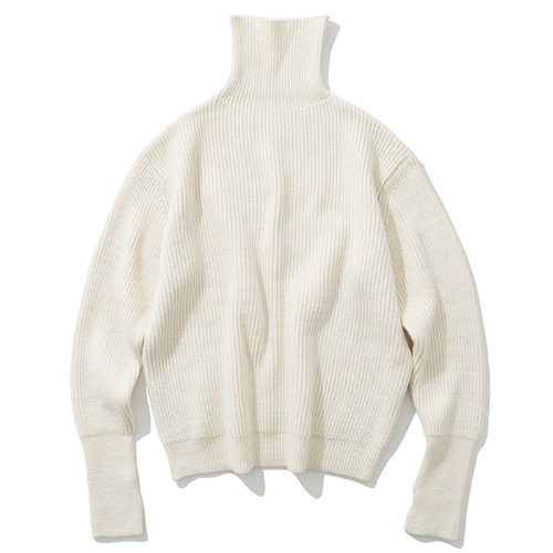 19fw wool turtle neck knit ivory
