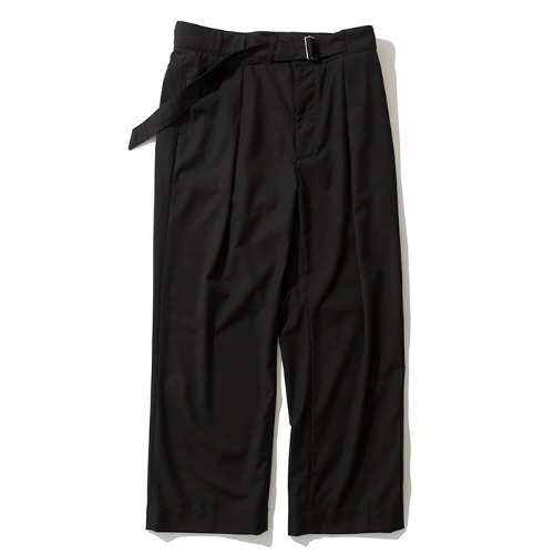 19fw wide strap slacks black