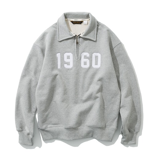 1960 half zip up grey