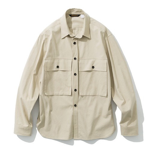 19fw big pocket shirts beige