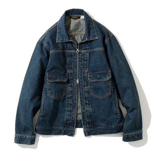 19fw selvedge denim jacket indigo washed