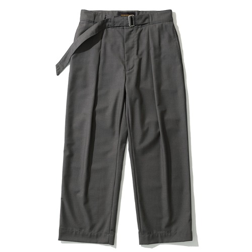 19fw wide strap slacks grey
