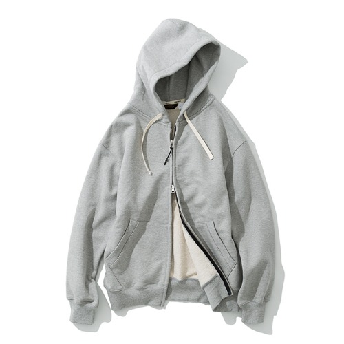 zip up hoodie grey