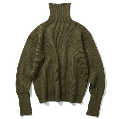 19fw wool turtle neck knit khaki