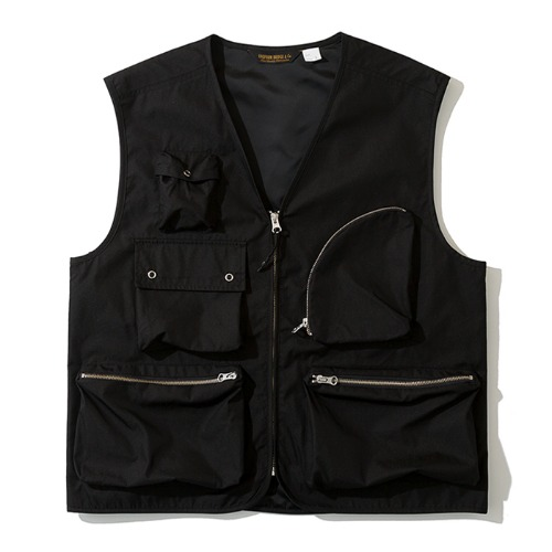 19fw multi pocket vest black