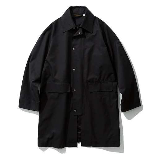 19fw single balmacaan coat black