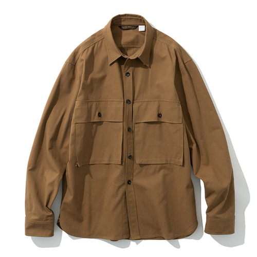 19fw big pocket shirts brown