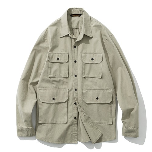 19fw 4pocket shirts jacket ivory