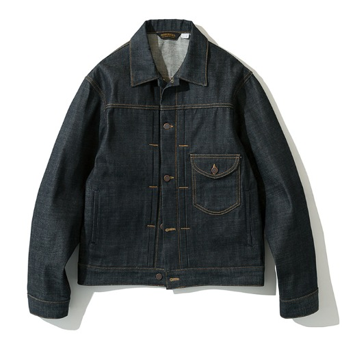 19fw denim trucker jacket raw indigo