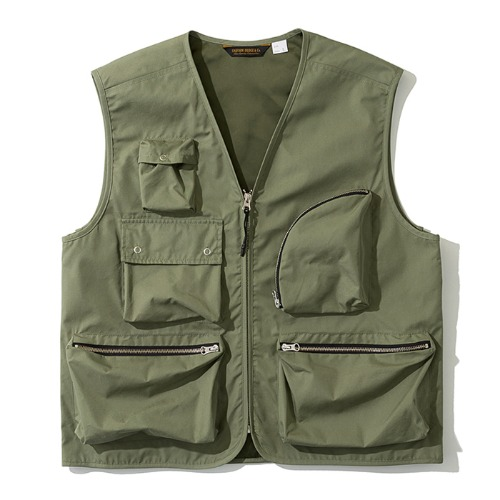 19fw multi pocket vest khaki