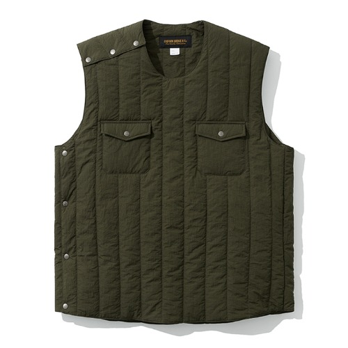 19fw paded vest khaki