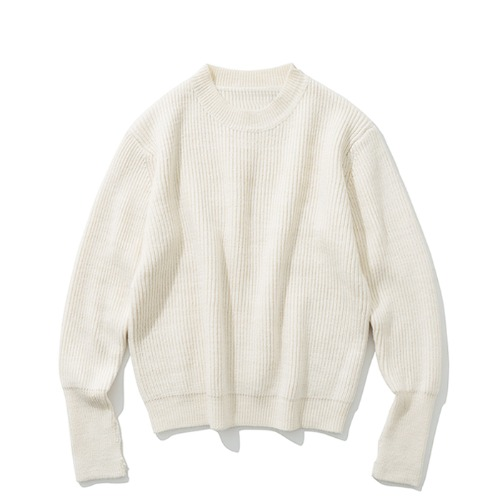 19fw wool crew neck knit ivory