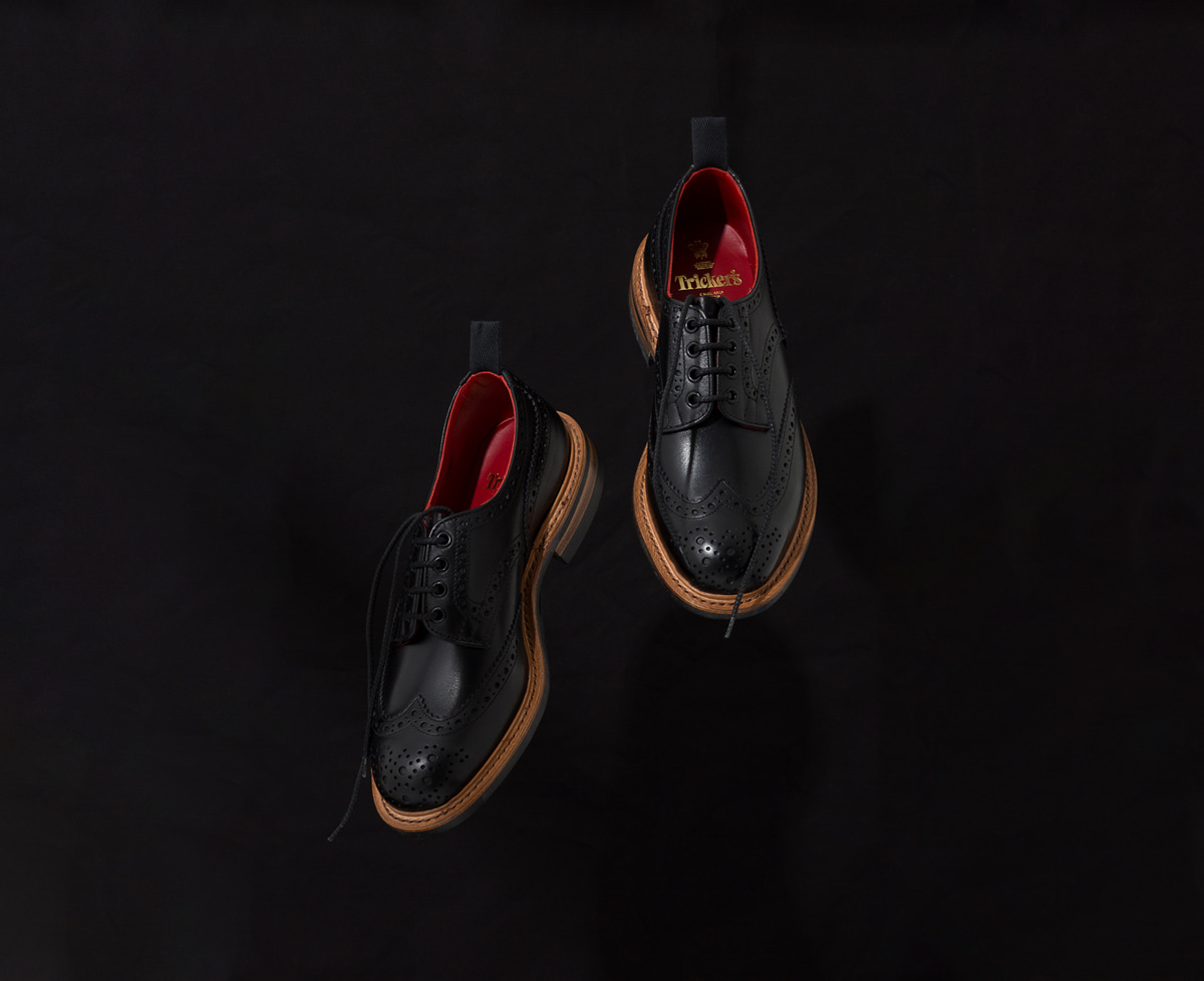 Trickers bourton black red exclusive
