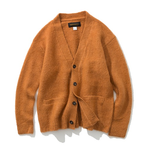 19fw mohair wool cardigan orange