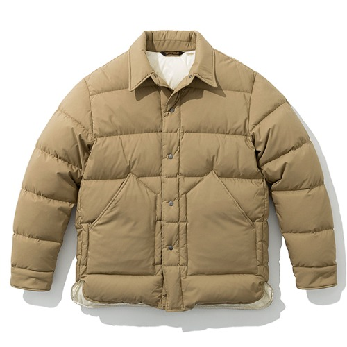 19fw down shirts jacket beige