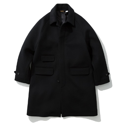 19fw wool balmacaan coat black