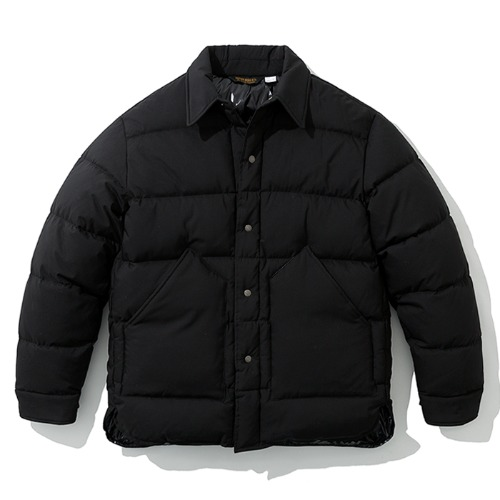 19fw down shirts jacket black