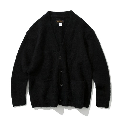 19fw mohair wool cardigan black