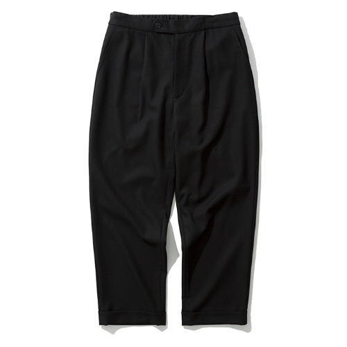 19fw crop wool slacks black