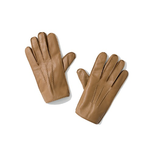 leather glove beige