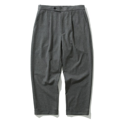 19fw crop wool slacks grey
