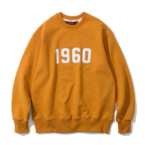 1960 sweatshirts yellow orange