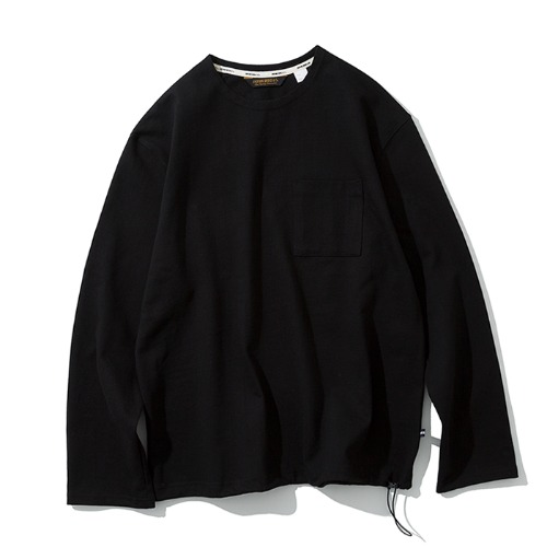 20ss pocket long sleeve tee black