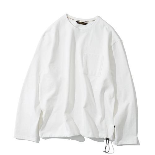 20ss pocket long sleeve tee off white