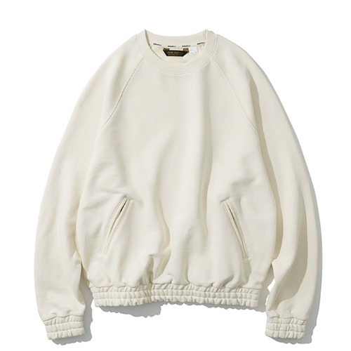 raglan pocket sweatshirts ivory