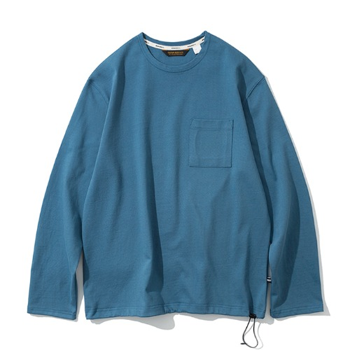 20ss pocket long sleeve tee sky