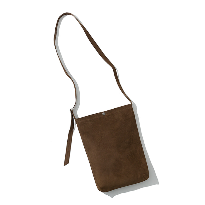 pig skin shoulder bag brown