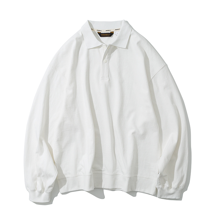 collar long sleeve off white