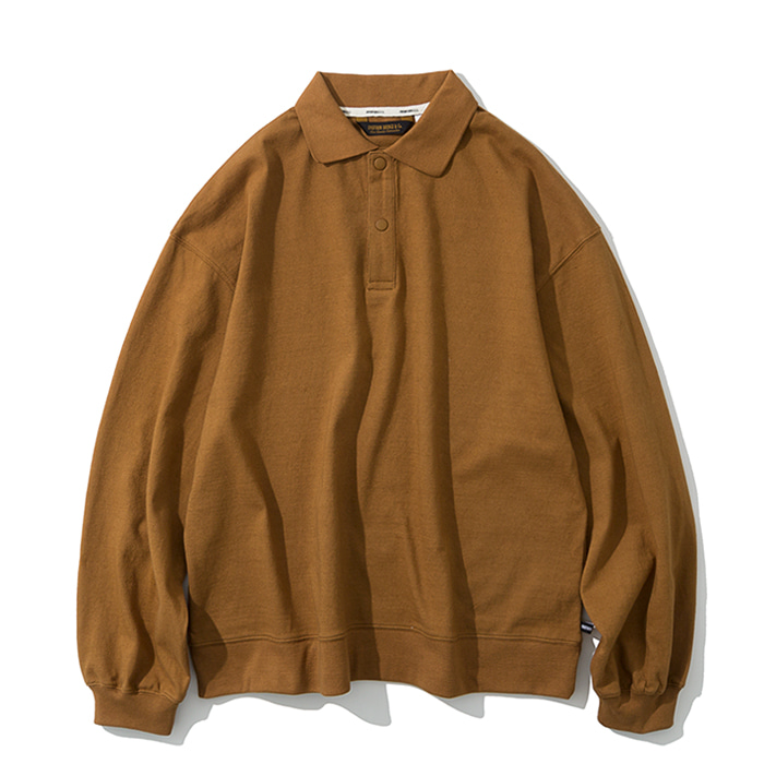 collar long sleeve brown